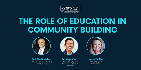Community Conversations: The Role of Education in Community Building tickets