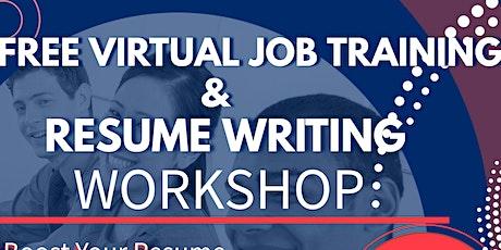 Free Job Training & Resume Writing Workshop tickets