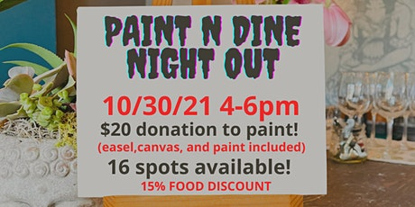 Paint and Dine Night Out tickets