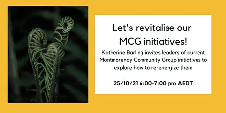 Let's revitalise our MCG initiatives! tickets