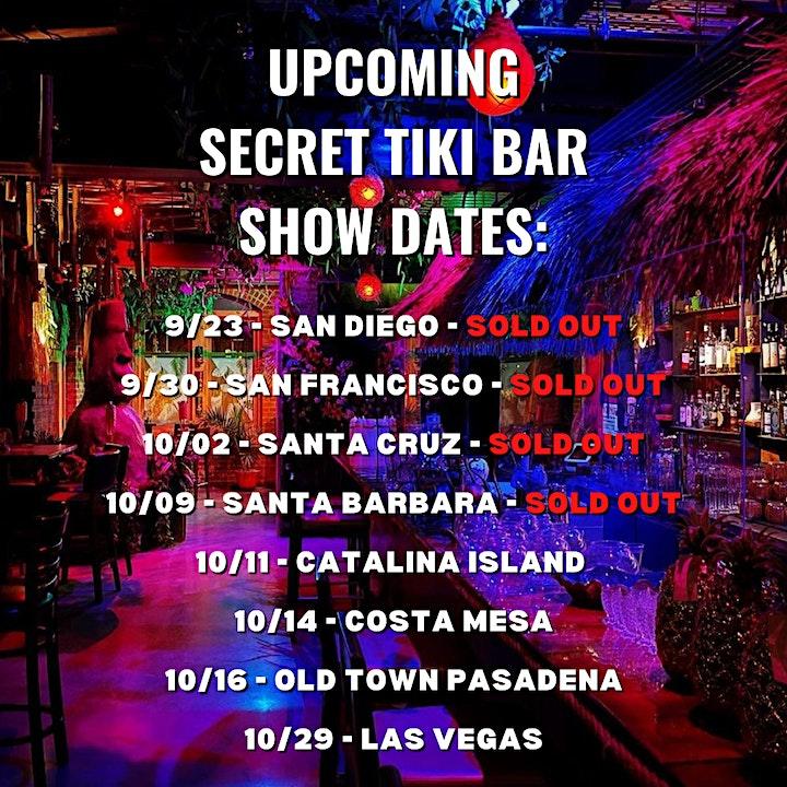 Secret Pop-Up Tiki Bar Speakeasy Comedy Show - Old Town Pasadena - 9pm Show image