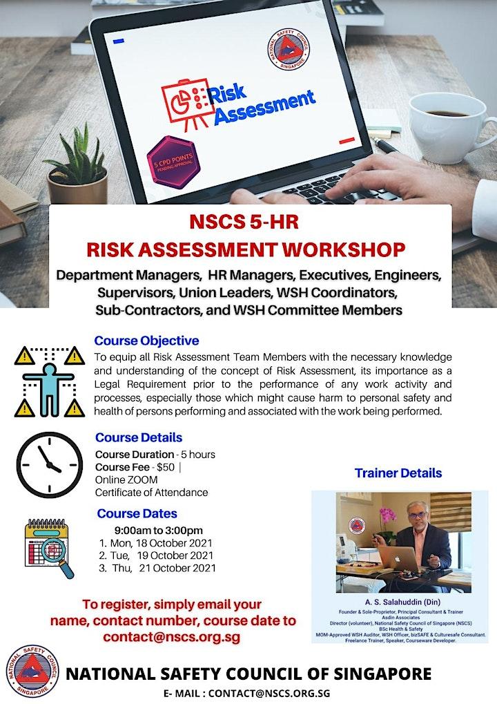 5 hour Risk Assessment Workshop image