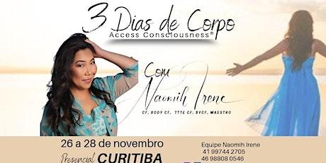 3 Dias de Corpo de Access Consciousness - curso presencial (Curitiba/PR) ingressos