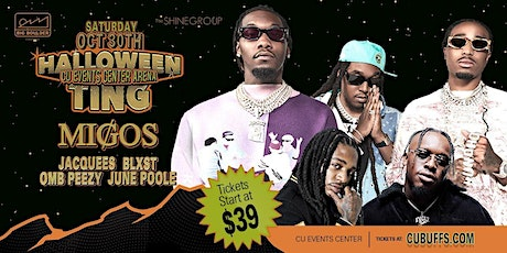 MIGOS, Jacquees, BLXST, OMB Peezy Boulder CU Events Center Arena 10/31 tickets