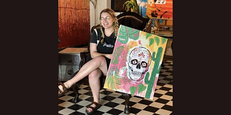 Halloween Skull Paint and Sip Brisbane 31.10.21 tickets
