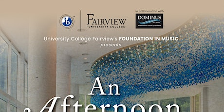 University College Fairview Monday Afternoon Recital tickets