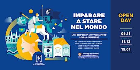 Licei Opera Sant'Alessandro / Open Day biglietti
