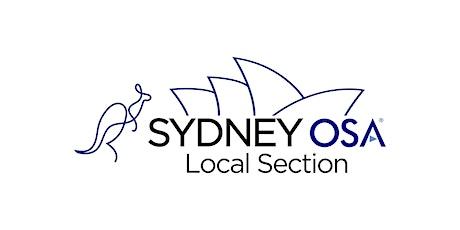 Sydney OPTICA (formerly OSA) Local Section Seminars tickets