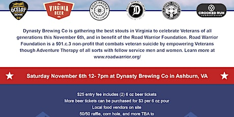Road Warrior Foundation Stout Fest hosted by Dynasty Brewing Co tickets