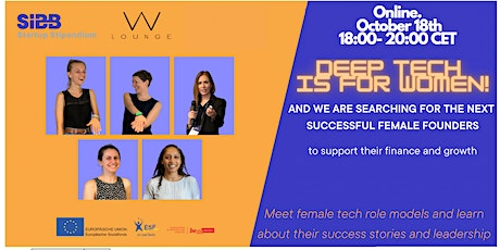 TECH indeed is for WOMEN and we support your journey and growth! together! tickets