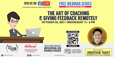 The Art of Coaching & Giving Feedback Remotely with Jonathan Yabut tickets
