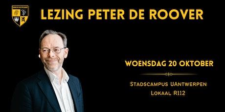 Lezing Peter De Roover tickets