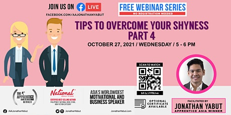 How to Overcome your Shyness, Part 4 with Jonathan Yabut tickets