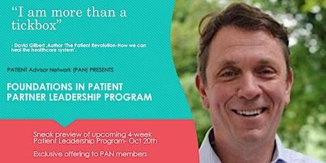 Foundations in Patient Partner Leadership tickets