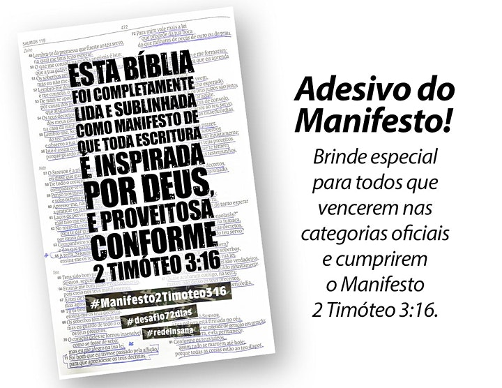 Imagem do evento ALISTAMENTO pra Ler/Ouvir a BÍBLIA TODA nos últimos 72 dias deste ano