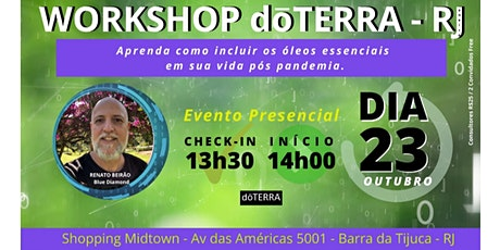 Workshop de Óleos Essenciais dōTERRA RJ ingressos