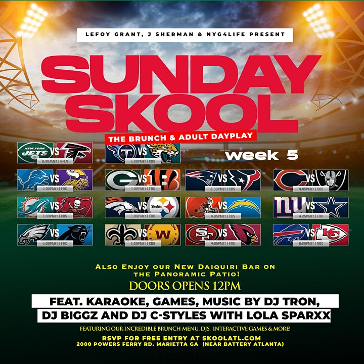 The SUNDAY SKOOL Brunch & Adult Dayplay at MONTICELLO Bistro & Patio! image
