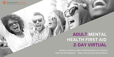 Adult Mental Health First Aid  for healthcare professionals (2-day virtual) tickets