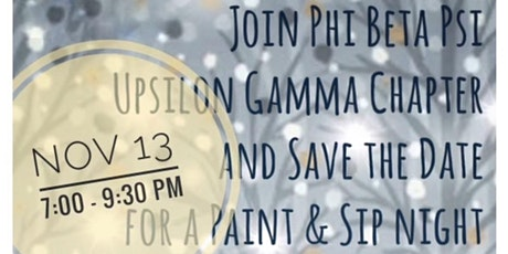Paint and Sip - Phi Beta Psi tickets