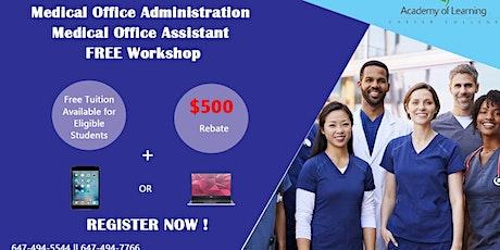 Free Online Medical Office Administration Medical Office Assistant Workshop tickets