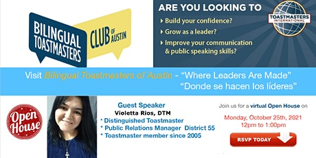 Bilingual Toastmasters Open House billets