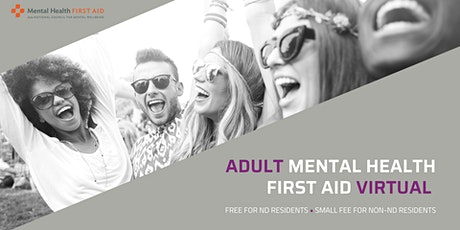 Adult MHFA for coaches, teachers, & community members  (virtual) tickets