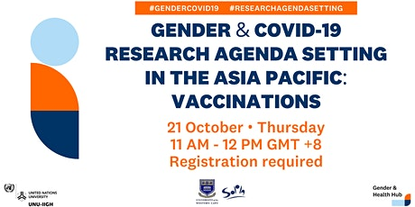 Gender & COVID-19 Research Agenda Setting in Asia Pacific: Vaccinations tickets