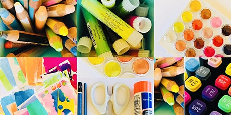 Create a collage mixed media art for wellbeing workshop tickets
