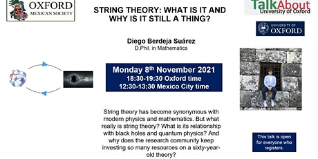 """Talk About Oxford:""""String theory: what is it and why is it still a thing?"""" tickets"""