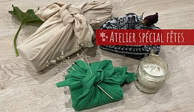 Atelier Noël : Bougie + Furoshiki billets