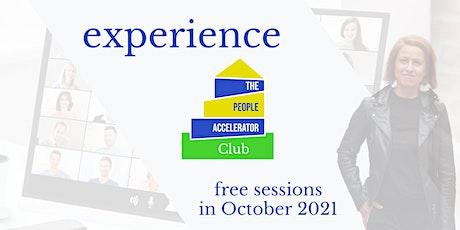 Experience The People Accelerator bilhetes