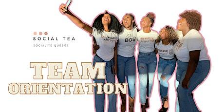 Team Orientation tickets