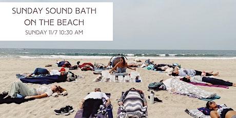 Sunday Sound Bath Meditation on the Beach tickets