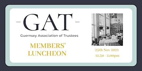 GAT Members' Bonus Luncheon Thursday 25th November 2021 tickets