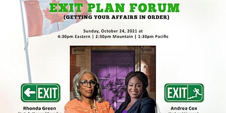 EXIT Plan Forum tickets