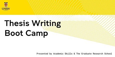 Thesis Writing Boot Camp tickets