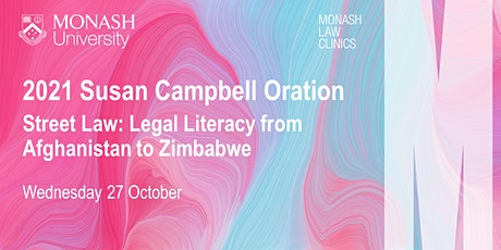2021 Susan Campbell Oration: Legal Literacy from Afghanistan to Zimbabwe tickets