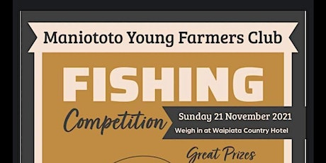 Maniototo Young Farmers Fishing Competition tickets