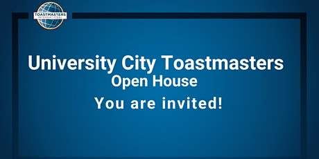 Open House @ University City Toastmasters: Free Event tickets