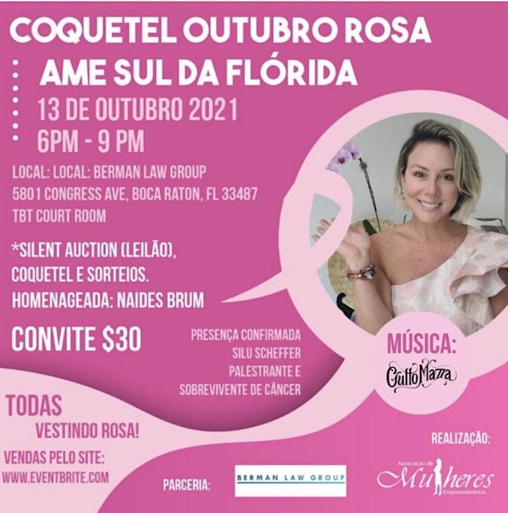 AME SUL DA FLORIDA -  COQUETEL OUTUBRO ROSA image