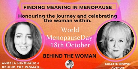 Finding meaning in menopause. tickets