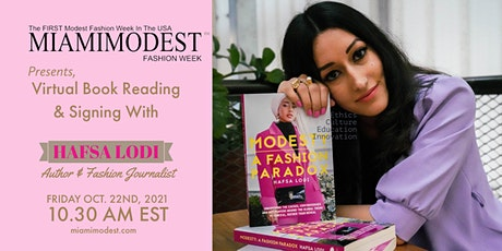 VIRTUAL Book Signing with HAFSA LODI at Miami Modest Fashion Week tickets