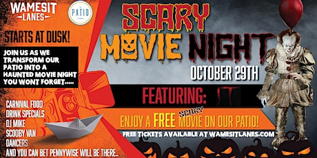 """Free Haunted Outdoor Movie Night - Featuring: """"IT"""" tickets"""