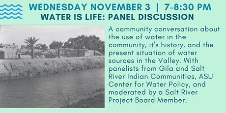 VIRTUAL: Water is Life!  Panel Discussion tickets