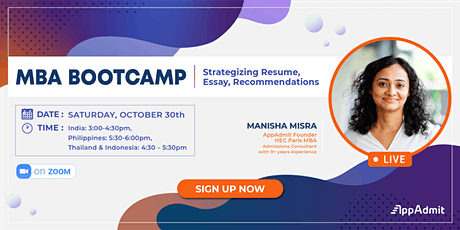 MBA Bootcamp Strategizing Resumes, Essays & Recommendations tickets