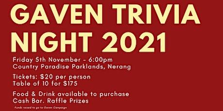 Gaven Trivia Night tickets
