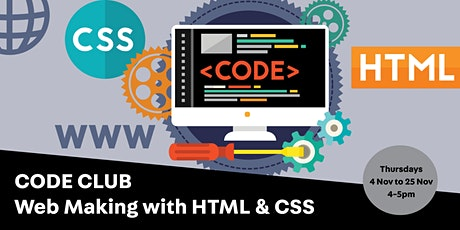 Code Club: Web Making with HTML & CSS tickets