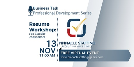 Resume Workshop: Pro Tips for Jobseekers tickets