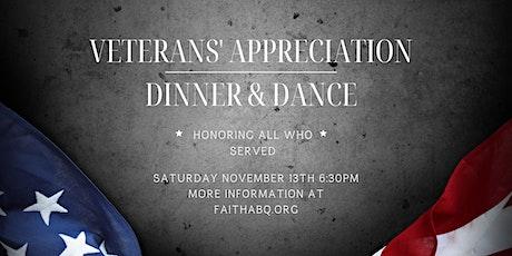 Veterans' Appreciation Dinner & Dance tickets