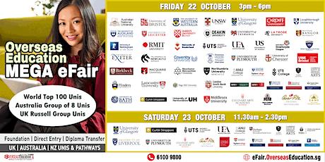 Overseas Education Mega Efair (Online) Fri 22 & Sat 23 Oct tickets